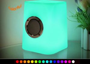 China Wireless LED Cube Light / Musical LED Table Lamp with Bluetooth Speaker on sale
