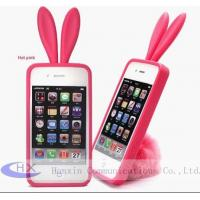 OEM Rabbit TPU Mobile Apple iPhone 4 Rubber Skin Cases for Cell Phones