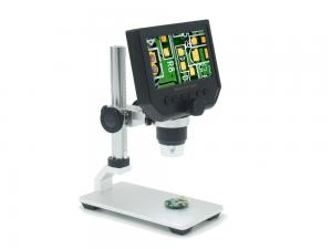 China digital microscope 600X USB  4.3inch HD LCD 3.6MP with metal track stand on sale