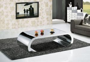 Modern Stainless Steel Center Table Metal Living Room Furniture ...