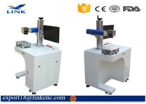 China Fiber Laser Metal Programmable Jewelry Marking Machine Low Power Consumption on sale