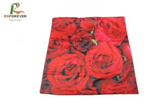 China Blooming Rose Custom Printed Clothing 3D Sublimation Printed Cushion Covers on sale