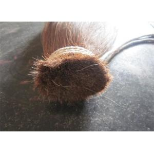 China Natural Brown Color 5-8 Inch Animal Hair Double Drawn Horse Tail Hair on sale