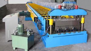 China 0.7-1.5 Thickness Steel Roof Floor Deck Steel Roll Forming Machine For Construction High Speed Production Line on sale