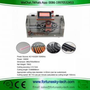 China Automatic Corrugated Tube Cutting Machine For Nylon Corrugated Conduit Bellows Pipe Hose Tubing on sale
