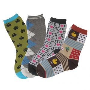 China Knitted soft custom color, design classic Patterned Kid Socks on sale