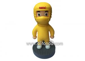 China PVC 3d cartoon person figures custom decoration 3d figures manufacturer with any design shape available on sale