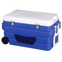 China 90L Large Plastic Cooler Box With Handle 110L 170 Blue Color Fishing Box Vaccine Storage Tank on sale