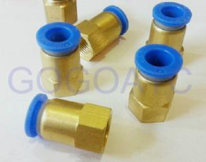 China Straight quick brass hose connector 8mm 1/2 PT pneumatic female threaded union fitting PCF 8-04 air pipe joint on sale