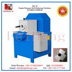 China S/S circle tube  DG 30 Single Hammer Roll Reducing Machine by feihong heating machinery on sale