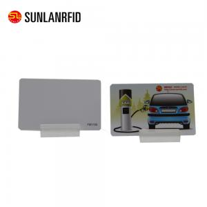 China SUNLANRFID CR80 PVC / PET Plastic Magnetic Stripe Membership Card custom Discount card loyalty card on sale
