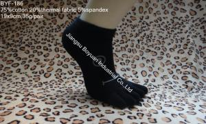China 2013 Japanese style 168 Ne black 5 toe cotton socks with rubber printed on sale