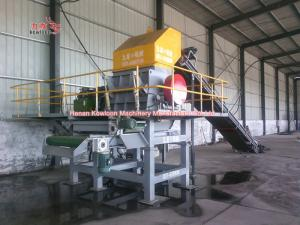 China Automatic Control Tire Secondary Shredder Steel Tyre Crumb Machine 380V on sale