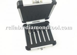 China Sliver 5Pcs 12MM Head Carbide Rotary Burr Set / Tungsten Carbide Burrs Die Grinder on sale