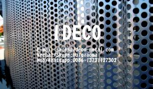 China Architectural Corrugated Perforated Metal Panels, Radiused/Wavery Perforated Sheet Metal for Facade Claddings on sale