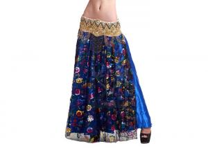 China Turkey Lace And Silk Belly Dancing Skirts / Dresses Two Layer For Women on sale