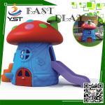 Single Plastic Kids Backyard Slide , Mushroom House Childrens Play Slide