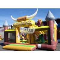 China Kids Clearance Western Theme House Inflatable Toddler Playground With Slide on sale