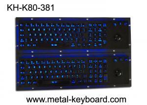 Quality トラックボール ポインティング デバイスが付いている発光性の防水SSの産業金属のキーボード for sale