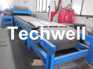 China Continuous Rubber Belt Conveyor PU Sandwich Panel Roll Forming Machine on sale