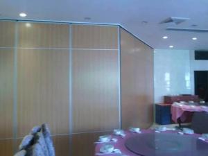 China Melamine Surface Operable Sliding Doors / Folding Room Dividers for Hotel on sale