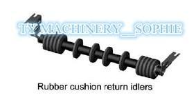 Idler or Sealed type carrier conveyor Roller spiral idler