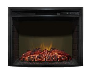 China 23 curved insert  fireplace F2325 burning log LED real flame  RV fireplace heater www.knsing.com on sale