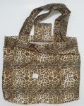 Waterproof Sexy Folding Shopping Bags Leopard Print Convenient Fold 190T Materials