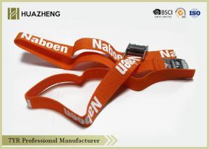 China Adjustable Lsshing Nylon Cargo Straps , Custom Elastic Bands ROHS PAHS on sale