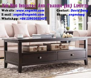 China Oak four drawer coffee table American coffee table living room furniture on sale