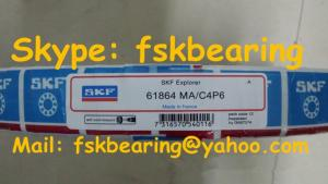China SKF 61864 Slim Section Deep Groove Ball Bearings Brass Cage , ABEC-5 on sale