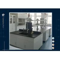 China Steel Wood Science Lab Furniture Technician Table All Grey Phenolic Resin Top on sale
