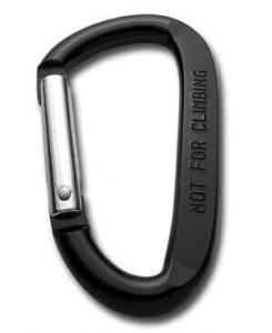 China Black Flat Carabiner Keychain with Logo on sale