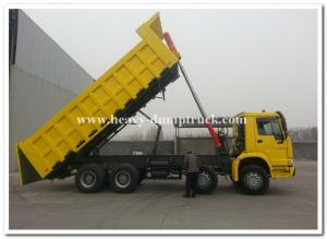 China 336 hp 8x4 heavy duty dump truck  front lift  HW76 cab , Howo tipper truck on sale