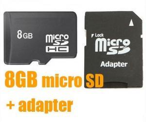 China 8GB Micro SD SDHC TF Memory Card + SD Adapter 8G 8 GB on sale