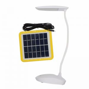 China 6W Solar Powered Rechargeable Desk Lamp With Adjustable Touch Sensor on sale