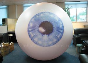 China Inflatable Large Helium Balloons For Advertising 2.5m Vivid Eyeball Pattern on sale