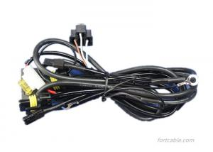 China Max Current 9.4A Wire Harness Assembly H4 Cable Harness AWG14 For Automobile on sale