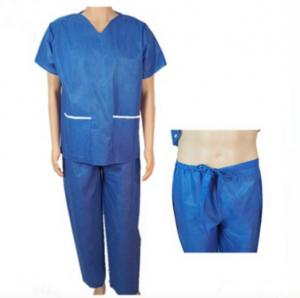 dce8504b6d1 Clinic Disposable Protective Gowns , V Neck Operating Room Scrubs Uniforms