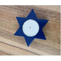 3.8x1.5cm 10gram  paraffin white unscented  tealight candle with blue holder