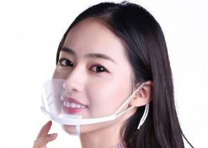 China Anti Virus Clear Plastic Mask For Food Anti Fog Mouth Face Shield Visor Face Mask Faceshields For Restaurant on sale