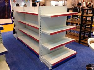 China Pitch 25 Modular Supermarket Display Shelving Easy Assembly And Disassembly on sale