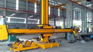 China Motorized Moving Rotation Column and Boom Welding MachineWith Electric Cross Slides on sale