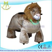 China Hansel Ride On Walking Toy Animals With Amusement Ride Fence Electric Animal Rides on sale