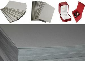 Quality Uncoated Laminated Grey Chipboard For Jewelry Box / Gift Box Packaging Paper for sale