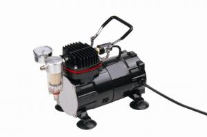 China Black / Silver Mini Air Compressor 1/5 HP Power 255X135X170mm TC-801 on sale