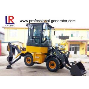 Quality 1Ton Heavy Construction Machinery , Backhoe Wheel Loader with 50HP YUNNEI Engine for sale