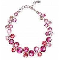 Fushia Crystal Shining Link Bracelet