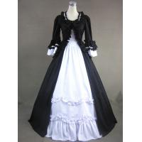 Cosplay Civil War Dress Wholesale Victorian dress gothic Lolita dress halloween costumes adult princess black and white