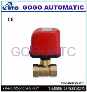 China Robinet à tournant sphérique électrique d'installation rapide de DN20 G3/4» pour le contrôle de fils du système AC220V CR02 3 d'appareil de chauffage d'appartement on sale